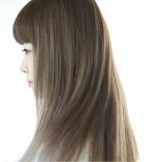ナチュラル ストリート 外国人風カラー スモーキーアッシュ ヘアスタイルや髪型の写真・画像