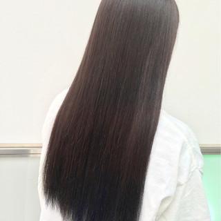 暗髪 ロング インナーカラー 外国人風 ヘアスタイルや髪型の写真・画像