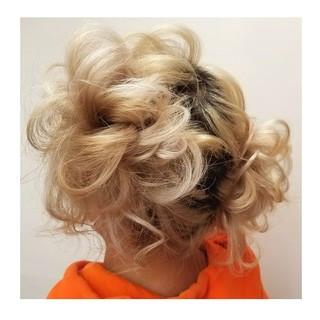 ヘアアレンジ セミロング 謝恩会 スポーツ ヘアスタイルや髪型の写真・画像