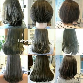 イルミナカラー ボブ ショートボブ アッシュ ヘアスタイルや髪型の写真・画像