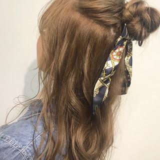 結婚式 デート セミロング 簡単ヘアアレンジ ヘアスタイルや髪型の写真・画像