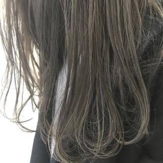 デート ハイライト 外国人風 ロング ヘアスタイルや髪型の写真・画像