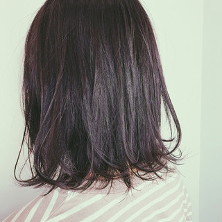 切りっぱなしボブ ゆるウェーブ ナチュラル かわいい ヘアスタイルや髪型の写真・画像