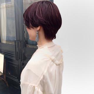 ナチュラル ラズベリーピンク 外国人風 外国人風カラー ヘアスタイルや髪型の写真・画像