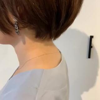 大人可愛い 簡単スタイリング ショート 透明感カラー ヘアスタイルや髪型の写真・画像