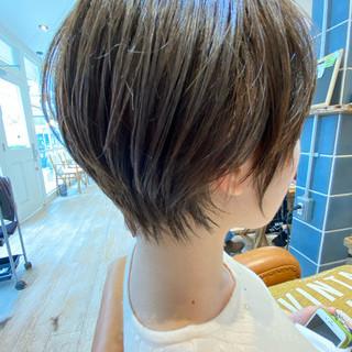 デート ベリーショート ショートヘア ミニボブ ヘアスタイルや髪型の写真・画像