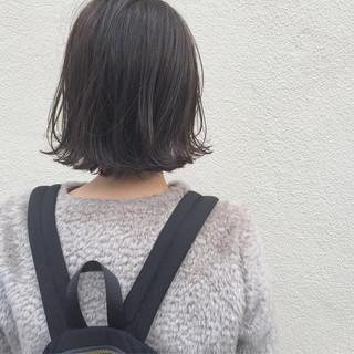 ハイライト ボブ 秋 ロブ ヘアスタイルや髪型の写真・画像 ヘアスタイルや髪型の写真・画像