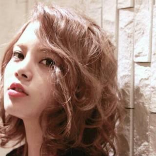 外国人風 モテ髪 ガーリー グラデーションカラー ヘアスタイルや髪型の写真・画像