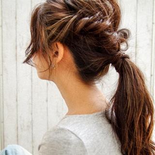 結婚式 ロング 簡単ヘアアレンジ ヘアアレンジ ヘアスタイルや髪型の写真・画像 ヘアスタイルや髪型の写真・画像
