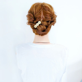 くるりんぱ 夏 涼しげ 大人かわいい ヘアスタイルや髪型の写真・画像