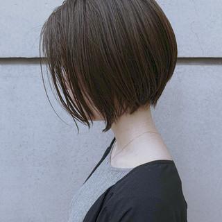 ショート 丸みショート ナチュラル ミニボブ ヘアスタイルや髪型の写真・画像