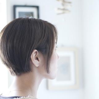 パープル ショートボブ ショートヘア ショート ヘアスタイルや髪型の写真・画像