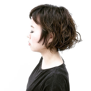 ガーリー デート リラックス ボブ ヘアスタイルや髪型の写真・画像