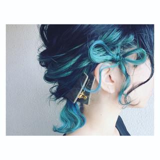 モード ウェットヘア ヘアアレンジ かっこいい ヘアスタイルや髪型の写真・画像