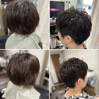 ガーリー ショート ウルフカット ショートヘア ヘアスタイルや髪型の写真・画像