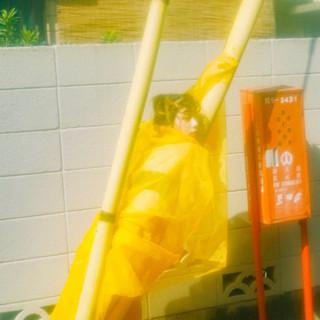 アウトドア お洒落 ヘアアレンジ ボブ ヘアスタイルや髪型の写真・画像