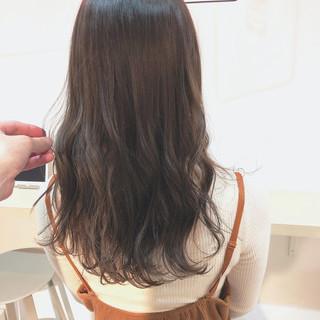 暗髪 ロング オフィス 透明感 ヘアスタイルや髪型の写真・画像