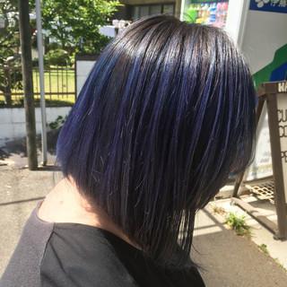 ストリート デニム グラデーションカラー カラーバター ヘアスタイルや髪型の写真・画像