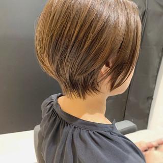 ミニボブ ナチュラル ショート 秋 ヘアスタイルや髪型の写真・画像