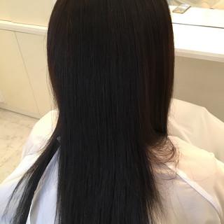 サラサラ ストレート ナチュラル ロング ヘアスタイルや髪型の写真・画像