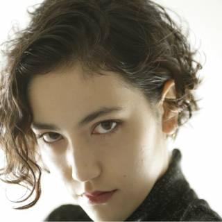 ショート 黒髪 モード 暗髪 ヘアスタイルや髪型の写真・画像