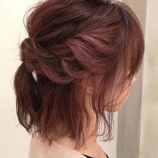ヘアアレンジ 大人かわいい ガーリー ブリーチ ヘアスタイルや髪型の写真・画像