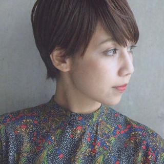 外国人風 ショート ハイライト 透明感 ヘアスタイルや髪型の写真・画像