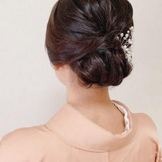 お呼ばれ 訪問着 結婚式 着物 ヘアスタイルや髪型の写真・画像