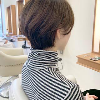大人ショート ショートヘア 大人可愛い ふんわりショート ヘアスタイルや髪型の写真・画像