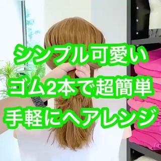 フェミニン ヘアセット ヘアアレンジ ロング ヘアスタイルや髪型の写真・画像