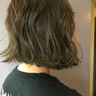 透明感 アウトドア スポーツ 切りっぱなし ヘアスタイルや髪型の写真・画像