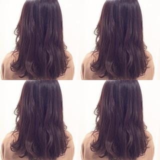 ナチュラル アッシュ モード ミディアム ヘアスタイルや髪型の写真・画像