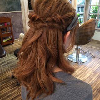簡単ヘアアレンジ ロング ショート ハーフアップ ヘアスタイルや髪型の写真・画像