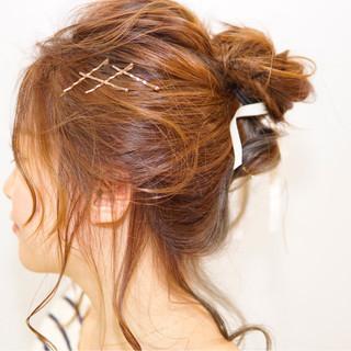 ショート ヘアアクセ ヘアアレンジ ヘアピン ヘアスタイルや髪型の写真・画像 ヘアスタイルや髪型の写真・画像