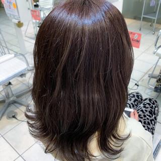 透明感カラー 大人ヘアスタイル ミディアム ナチュラル ヘアスタイルや髪型の写真・画像