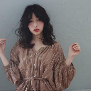 ガーリー ミディアム 大人女子 小顔 ヘアスタイルや髪型の写真・画像