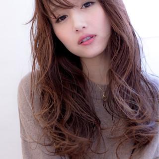ゆるふわ ロング ニュアンス 小顔 ヘアスタイルや髪型の写真・画像 ヘアスタイルや髪型の写真・画像