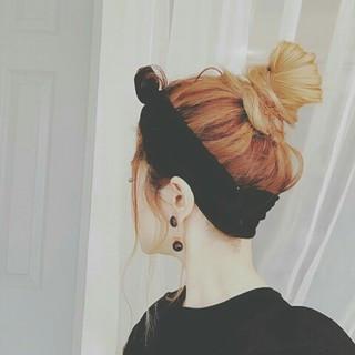 ヘアアレンジ 女子会 春 ナチュラル ヘアスタイルや髪型の写真・画像