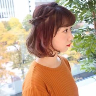 ラフ ヘアアレンジ フェミニン ボブ ヘアスタイルや髪型の写真・画像 ヘアスタイルや髪型の写真・画像