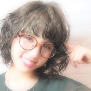 外国人風 モテ髪 アッシュ パーマ ヘアスタイルや髪型の写真・画像