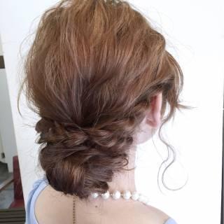 シニヨン ゆるふわ ヘアアレンジ ルーズ ヘアスタイルや髪型の写真・画像 ヘアスタイルや髪型の写真・画像
