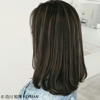ダブルカラー バレイヤージュ 外国人風 ストリート ヘアスタイルや髪型の写真・画像