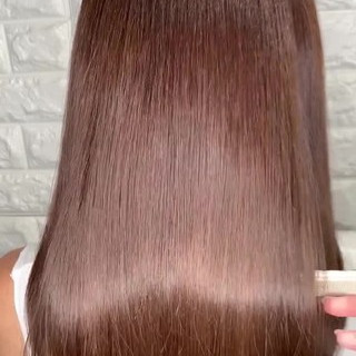 ロング 髪質改善 縮毛矯正 ストレート ヘアスタイルや髪型の写真・画像