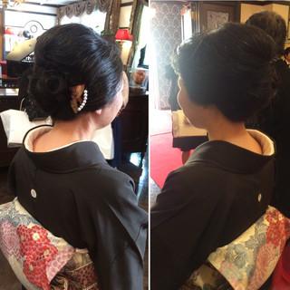 和装 結婚式 着物 ヘアアレンジ ヘアスタイルや髪型の写真・画像