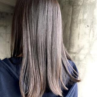 暗髪 秋 冬 ロング ヘアスタイルや髪型の写真・画像