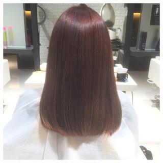 ガーリー ダブルカラー パープル レッド ヘアスタイルや髪型の写真・画像
