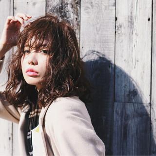 アッシュ パーマ 外国人風 渋谷系 ヘアスタイルや髪型の写真・画像