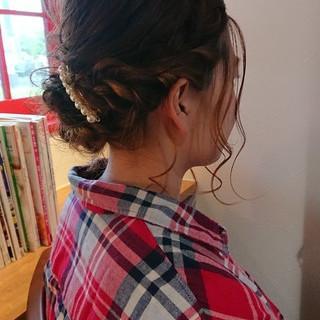 大人かわいい ゆるふわ ボブ ヘアアレンジ ヘアスタイルや髪型の写真・画像 ヘアスタイルや髪型の写真・画像