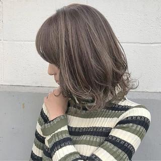 冬 アンニュイ ミディアム 愛され ヘアスタイルや髪型の写真・画像