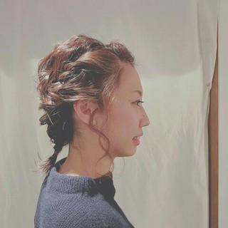 ヘアアレンジ 後れ毛 大人女子 編み込み ヘアスタイルや髪型の写真・画像